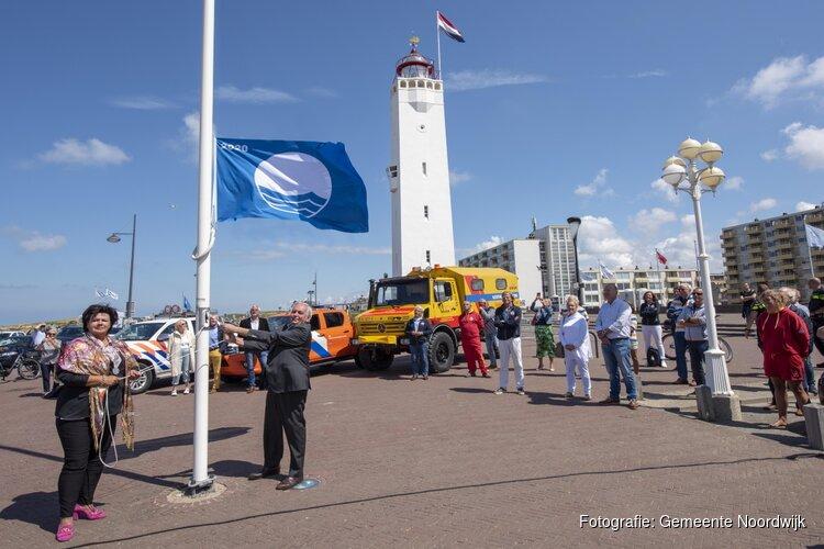 Blauwe vlag wappert weer in Noordwijk